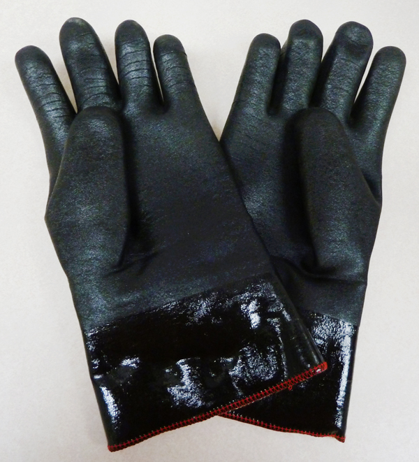 black long crab gloves