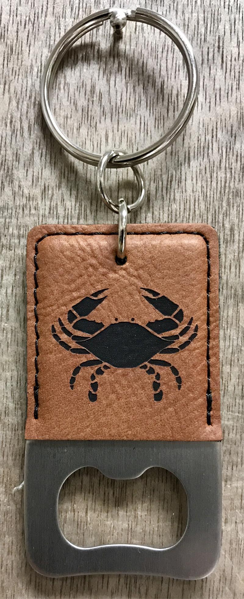 crab leather bottle opener key chains. Black Bedroom Furniture Sets. Home Design Ideas