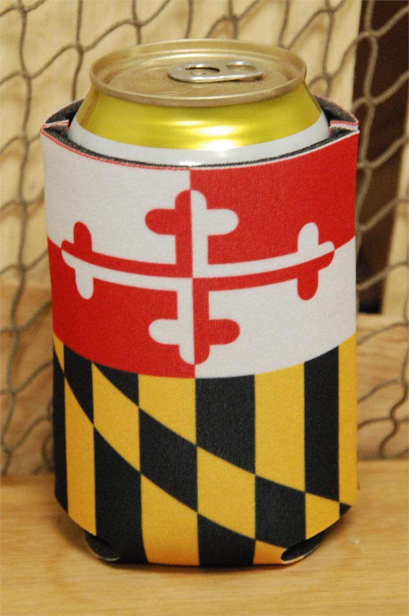 Maryland Flag Crab Koozie Maryland Flag Koozie
