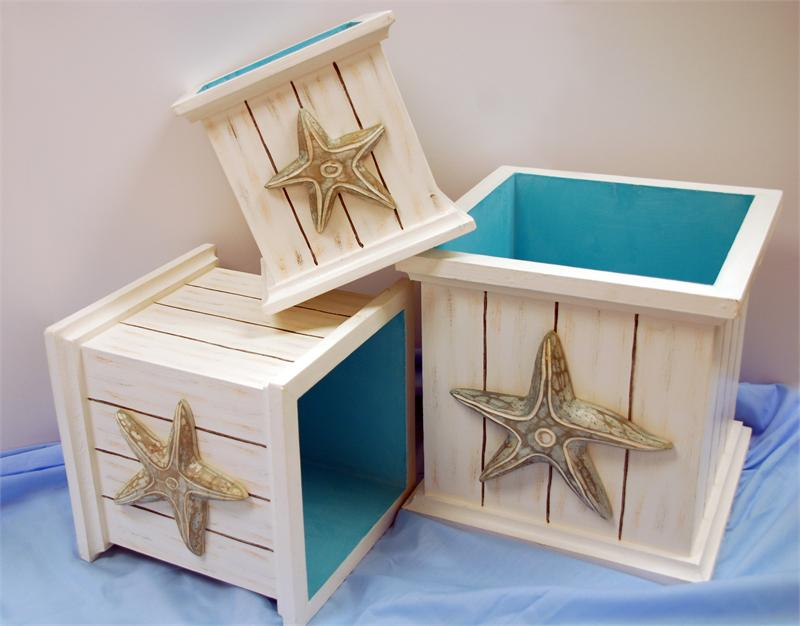 Starfish Wooden Planter Boxes