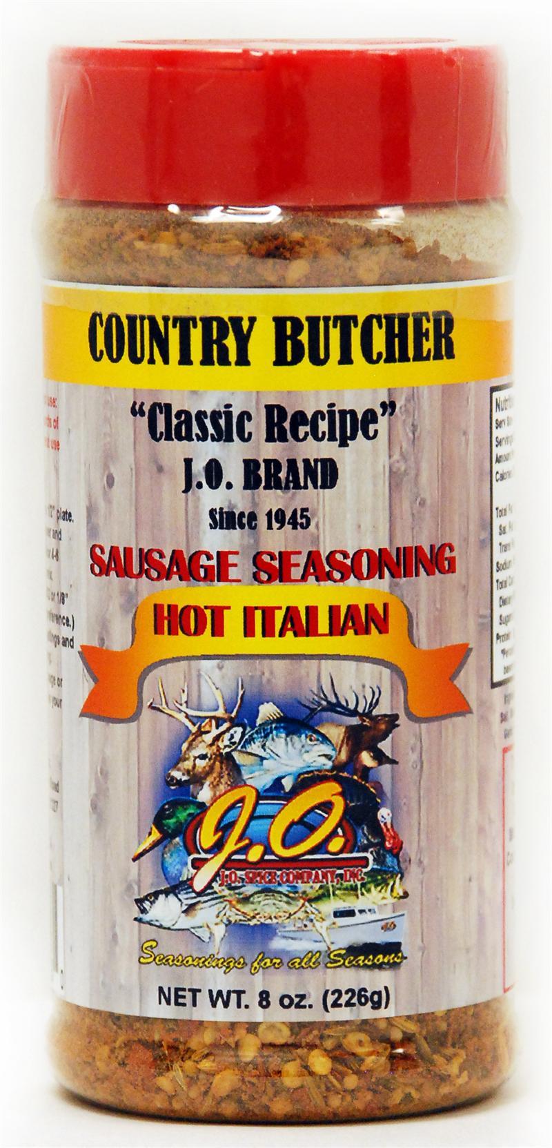 Hot Italian Sausage Seasoning 8 oz  Container