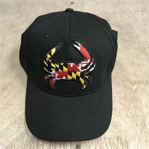 eef1b7fea0eea Maryland Flag Crab Embroidered Baseball Cap